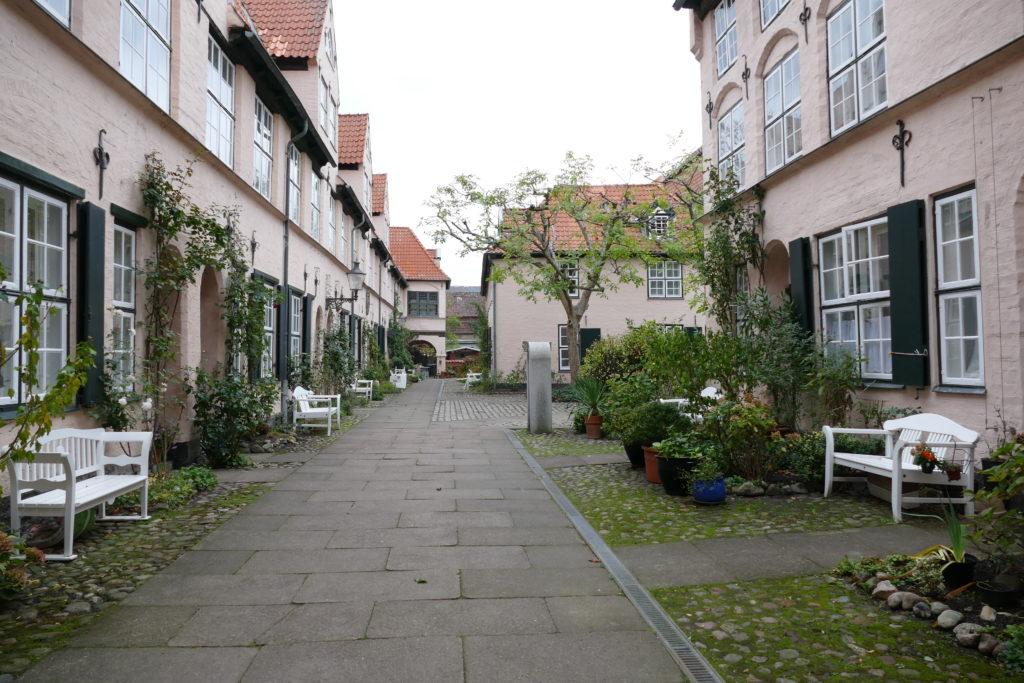 Hinterhof Füchtingshof in Lübeck