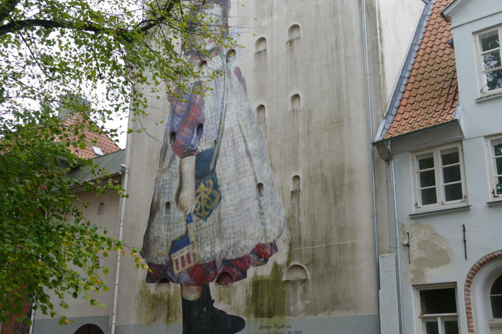 Fassadenkunst in Lübeck