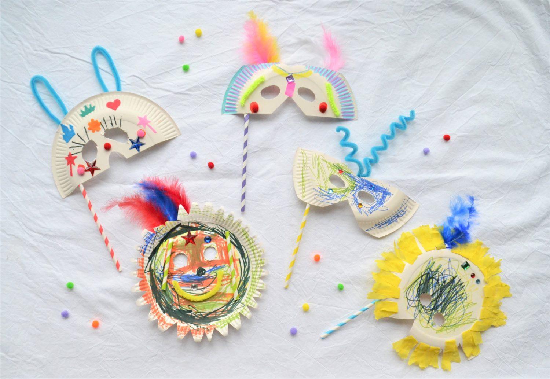 Masken aus Papptellern