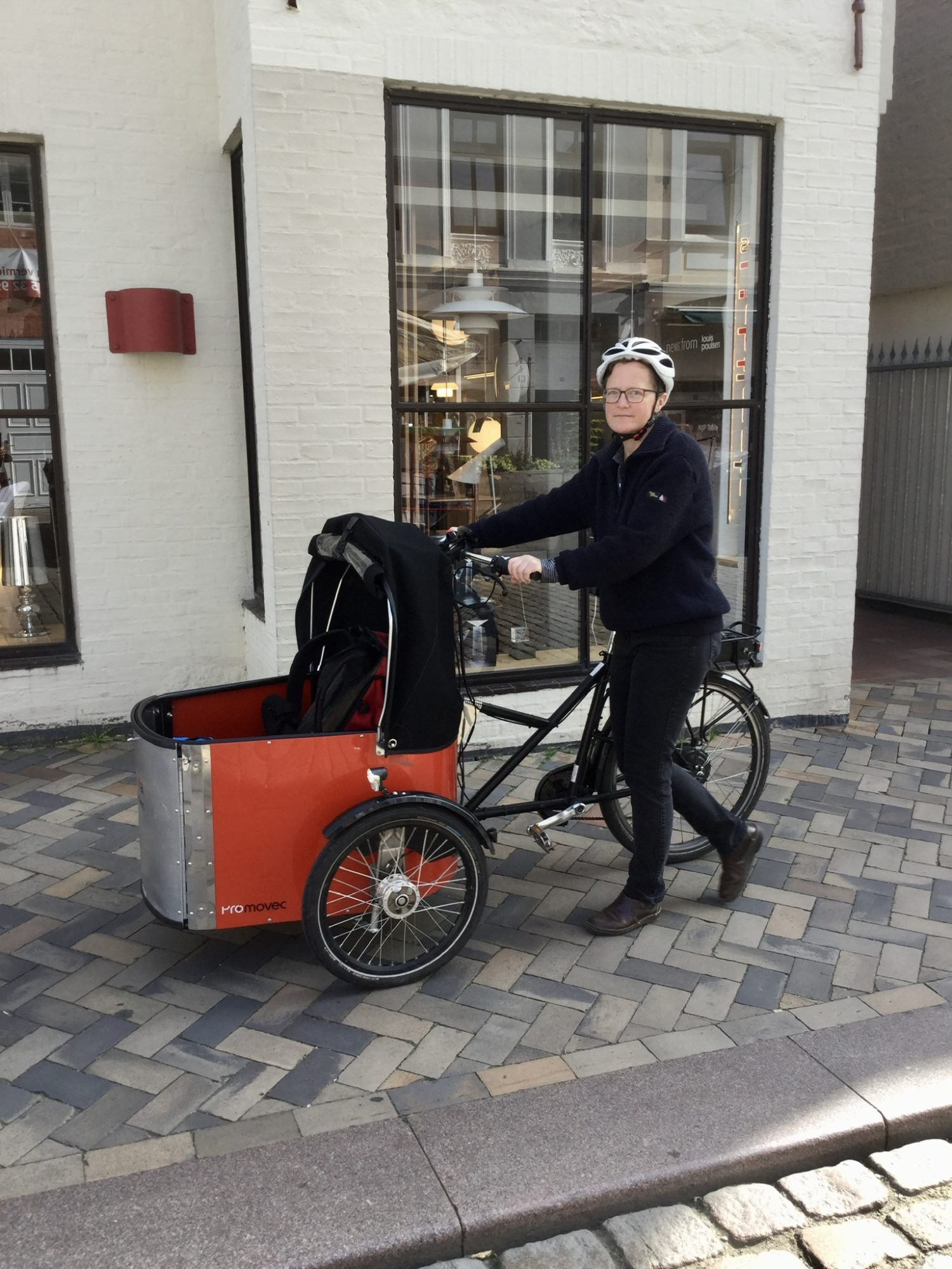 Testfahrt mit E-Lastenrad: Karla Kommod und ich