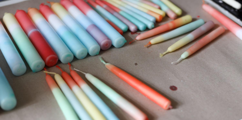 Kerzen färben leicht gemacht