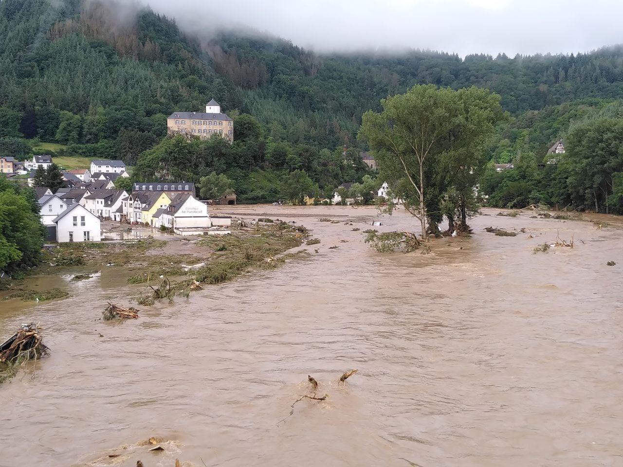 Hochwasser in Süd- und Westdeutschland